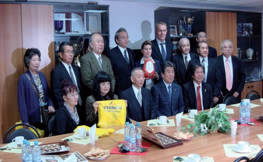 Meeting with the delegation of Taketa, Japan at The High Comprehensive Sport School