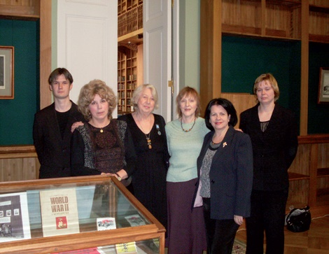 Delegation of the British Society for Cooperation in Russian and Soviet Studies at the opening of the exhibition Dear Allies at the Russian National Library