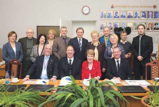 Days of Scotland in St. Petersburg in 2013. The meeting at the Municipality of Peterhof